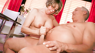 AMATEUR EURO -German Horny Housewife Has Sex In The Kitchen