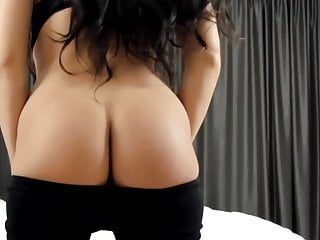 Woman doing strip tease - Hot latina doing sexy strip tease on video
