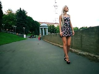 Hot teen girls in short shorts - Very hot russian teen in short dress and high heels outdoors