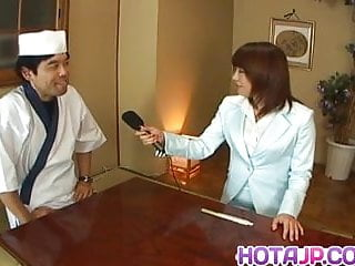 Girl cum on food - Mitsu anno gets cock deepthroat and cum in mouth in food fet