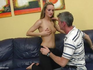 Older man fucking young girls - Teen girl licked and fucked by older man