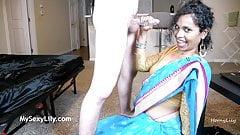 Horny Lily Blowjob Indian Queen Slurping Sloppy Sucking Fuck