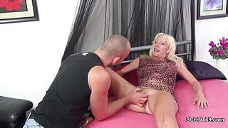 Step-Mother Seduce Step-Son to Fuck when Step Dad is Away