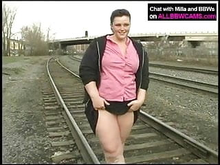 Young and fat nude Fat princess gets nude on railway