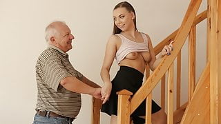 DADDY4K. Boyfriend is busy with broken PC while his slut gets fucked