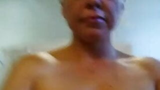 Slut-whore-Bailey showing of before her shower.