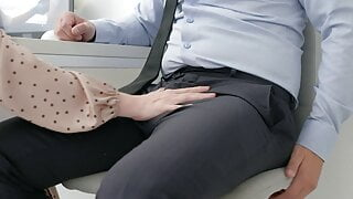 footjob in the office.
