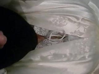 Erotic chemise Moi en peignoir en satin avec chemise de nuit en satin