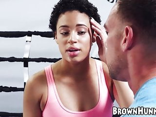 Young hunnies big tits - Ebony hunny amethyst banks banged at the gym