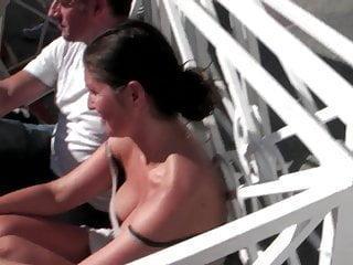 Oiled up huge tits - Close up huge tits at paris plage