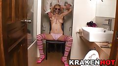 Krakenhot Blonde girl with saggy tits in submission casting
