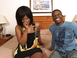 Couple fucking for first time - Kinky black couple fuck on camera for the first time