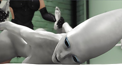 Female alien in a jail gets fucked hard by a hot dickgirl