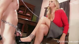Dick Dominating Dame Julia Ann Sits On Her Boy Toy's Face!