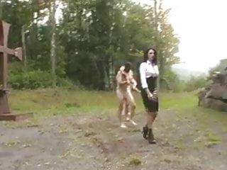 Girl humliated spank public Destruction of the balls