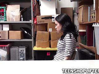 Cute sexy teen fucked Cute teen with sexy tatts fucked on the security office desk