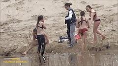 SpyCam Girls bathe in their underwear