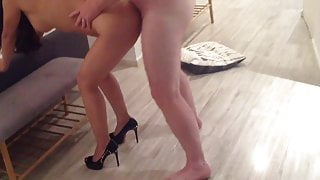 Red sole high heel Asian