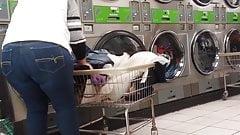 Mature big booty latina at the laundromat pt.2