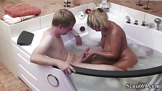 German Mom Help 18yr old Virgin Step-Step Son with First Fuck