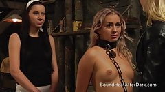 Pleasure and Pain: Lesbian Slave Can't Escape From Chains