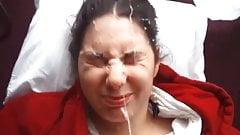 Buck tooth gal gets a huge facial
