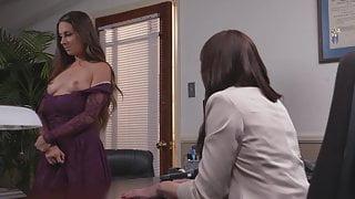Employee has sex with lesbian boss