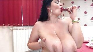 Big Tits and Sloppy Blowjob