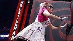 WWE - Alexa Bliss turning a crank at Wrestlemania 37