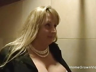 Thick and busty moms - Thick and busty milf sucks my cock in the bathroom