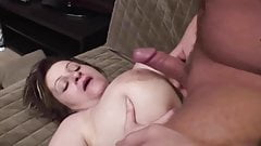 Chubby big tits mom fucked