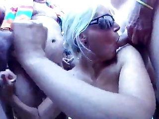 Moms beach sex - Gang bukkake at the beach