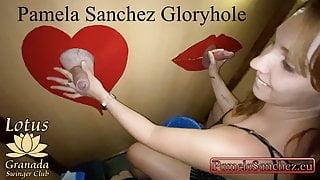 Pamela Sanchez, hot wife gives blowjob at glory hole for strangers 1-3
