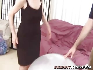 Old granny tit - Very old granny gets destroyed