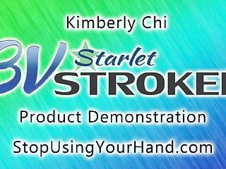 Shemale strokers 17 Kimberly chi uses her 3v starlet stroker on james bartholet