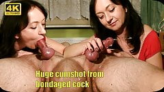 Maya bring bondaged cock to huge cumshot in ruined orgasm