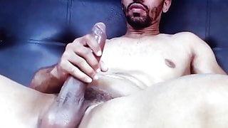 Hot young Latino edging his huge long hard cock