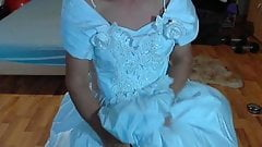 have fun in the wedding dress