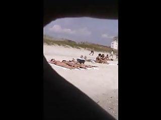Lip liner cum shots Quick beach crotch shot 12,, bikini spreading lips