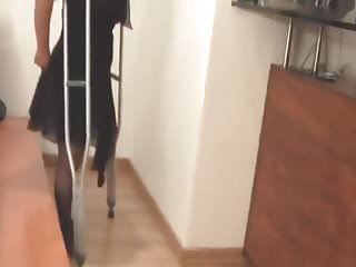 Vintage crutch My dream its im to live on one leg and crutch