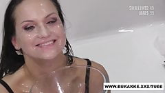Delicious Barbara Bieber Huge Facial with Multiple Loads of