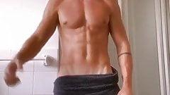 sexy boy after shower