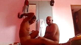 Indian aunty fucking old man for money