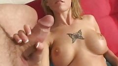 Jerky Milk Job From Sexy Babe Making A Cumshot Session