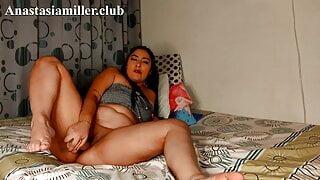 Fat Latina's fat ass and big natural tits