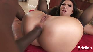 Asa Akira Gets Her Asshole Destroyed By Big Black Cock