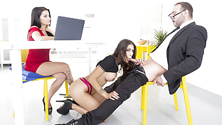 VirtualTaboo.com Deep Job Interview with Bianka Blue and Raquel Martin