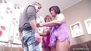 German stepmom and Aunt Seduce Young Boy to Fuck her