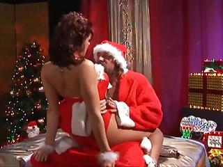 Santa claus anime porn - Santa claus fucks a busty brunette