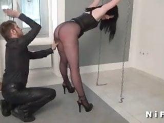 Bdsm slave games - French slut in a bdsm game